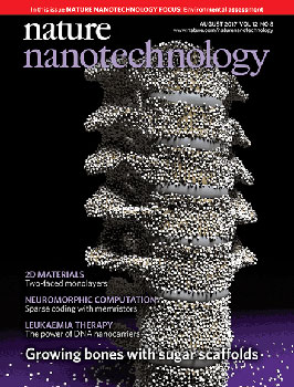 The cover of Nature Nanotechnology