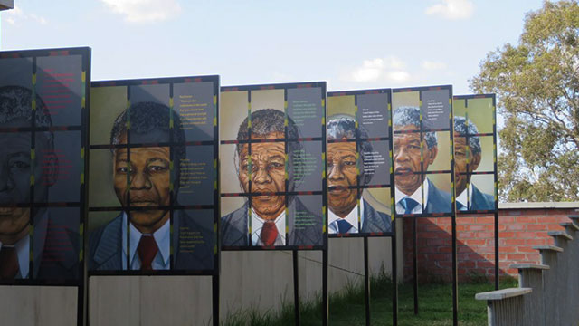 An exhibit on Nelson Mandela at the Apartheid Museum in Johannesburg, South Africa (courtesy Erik Ponder).