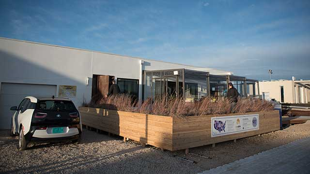 House by Northwestern's Enable is making its debut at the Department of Energy's Solar Decathlon, held this year in Denver. (Photo by Monika Wnuk)