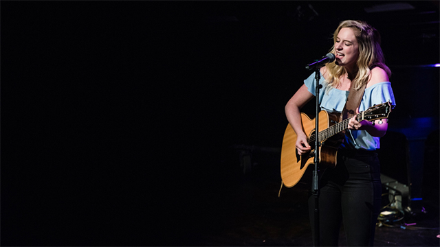 "Mercer Project Songwriter Ava Suppelsa performs her song ""With You In It"" at the 2017 Songwriters in Concert event. Photography by Nemanja Zdravkovic"