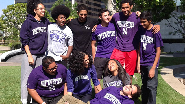 Members of Northwestern's first Posse cohort in 2013.