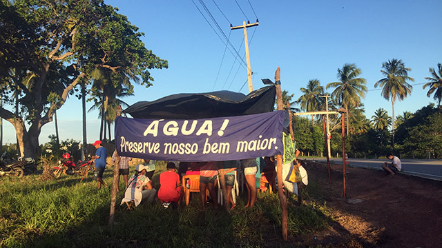 water banner in Brazil