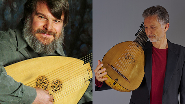 Lutenists Paul O'dette and Ronn McFarlane perform April 26, 2019 in the Segovia Classical Guitar series