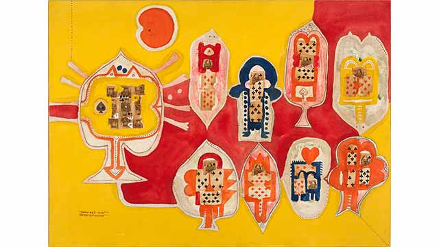 image for 'King and Queen of Spades' by Indian artist Prabhakar Barwe