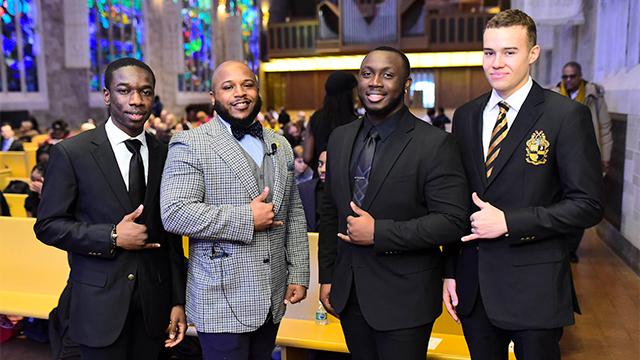 Members of Alpha Mu Chapter of Alpha Phi Alpha Fraternity