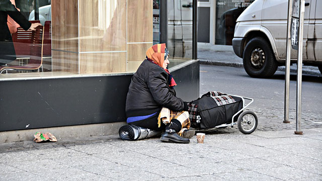 image showing a homeless person