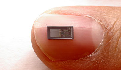 Bioresorbable sensor on top of a finger nail
