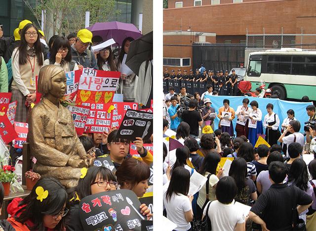 Comfort Women protesting